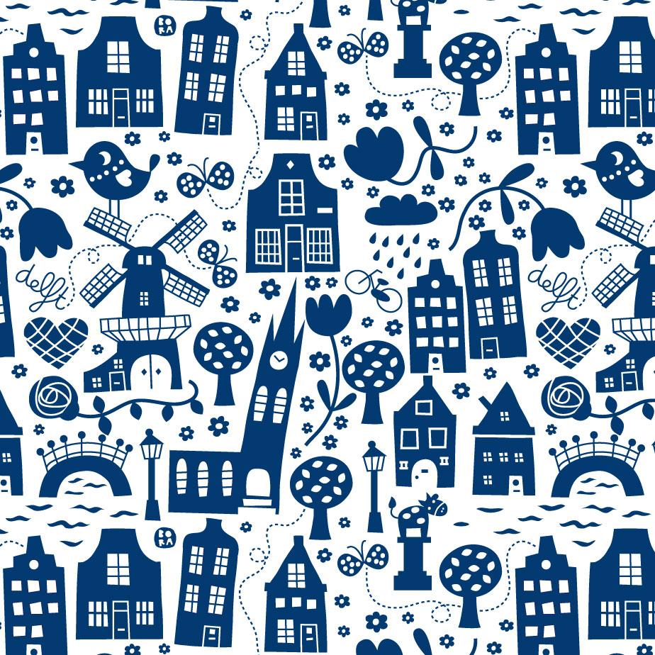 Zitzak Delfts Blauw.By Bora Com Products